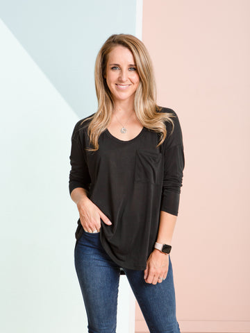 Taya L/S Top - Black