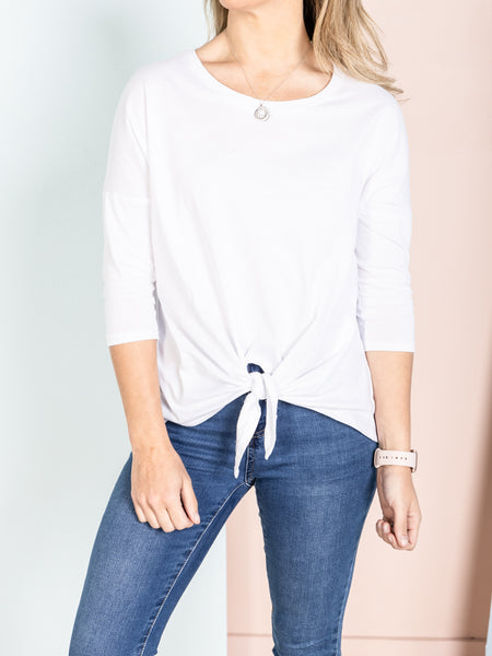 IVY Knot Top - White