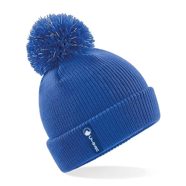 Kids blue bobble hat