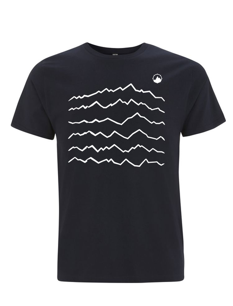 Mountain Waves navy  t shirt