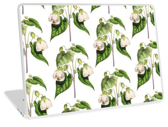 Laptop Skin - Flora and Fauna - FF - Abutilion - The Floral magazine