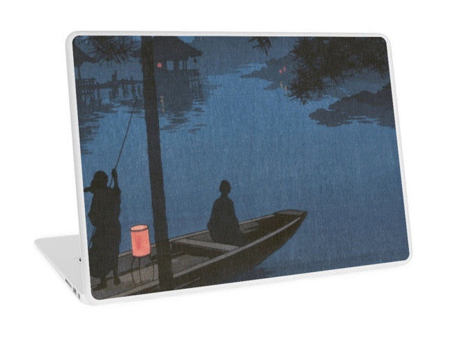 Laptop Skin - Japanese Print - Shubi pine at Night