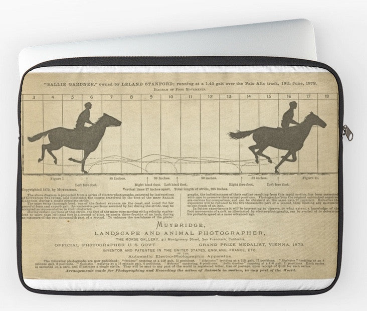 Laptop Sleeve - Serendipity - Eadweard Muybridge – 1830-1904 – Horse Poster - White