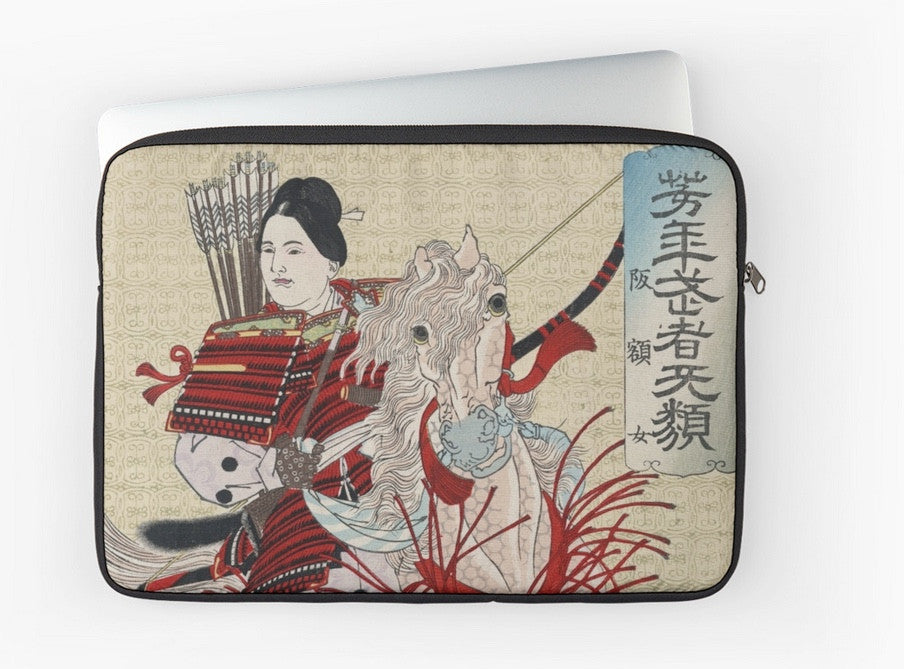 Laptop Sleeve -Japan Print - Hangakujo - Horse & Rider