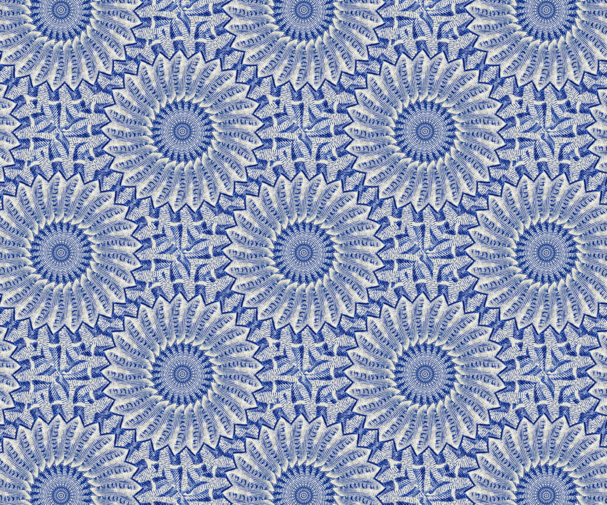 Cushion - Kaleidoscope - Stamp 1 Detail
