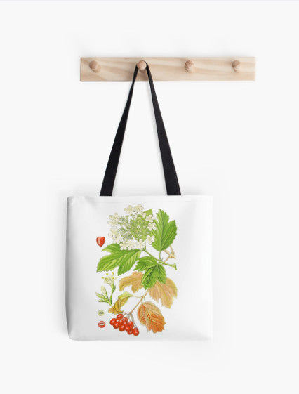 Tote Bag - FF - Vintage - Flower - Tree - Alder