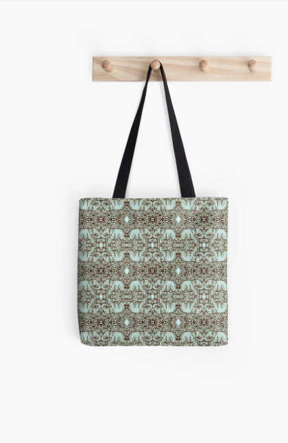 Tote Bag - Kaleidoscope - Elephant - Daytona - Stamp Detail