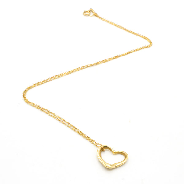 Tiffany Open Heart 18K necklace
