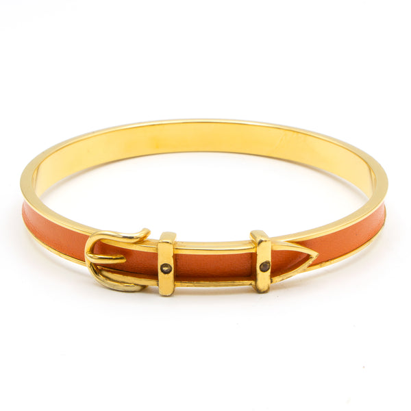 Hermès bangle Belt orange bracelet