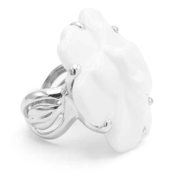 Chanel Camelia agate ring