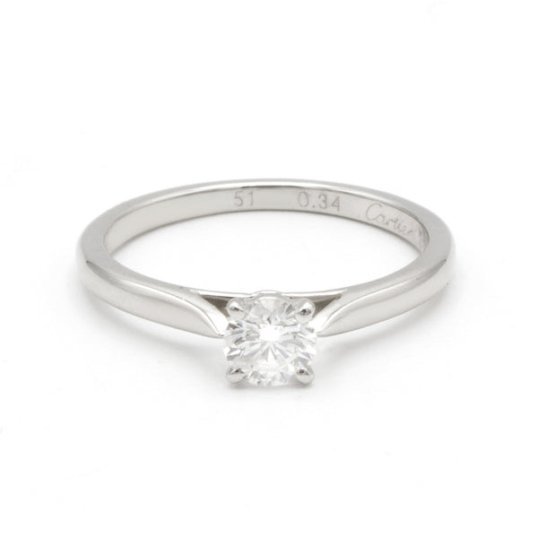 Cartier Solitaire 1895 ring Sz 50