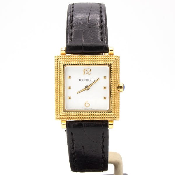Boucheron 18K yellow gold watch