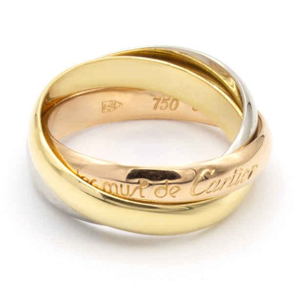 Cartier Must Trinity ring Sz 51
