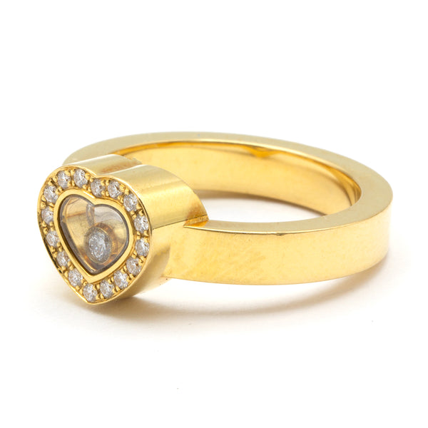 Chopard ring Happy Diamonds 18K Sz 51,5