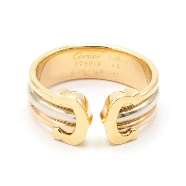 Cartier Double C ring Sz 48