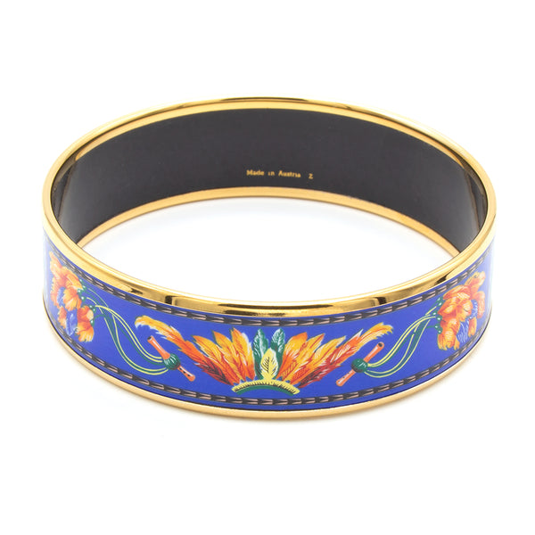 Hermès enamel feather bracelet