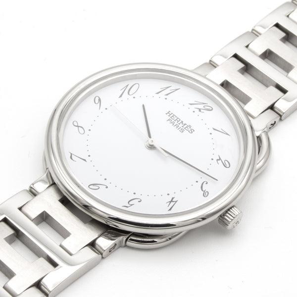 Hermes Arceau 34mm steel watch