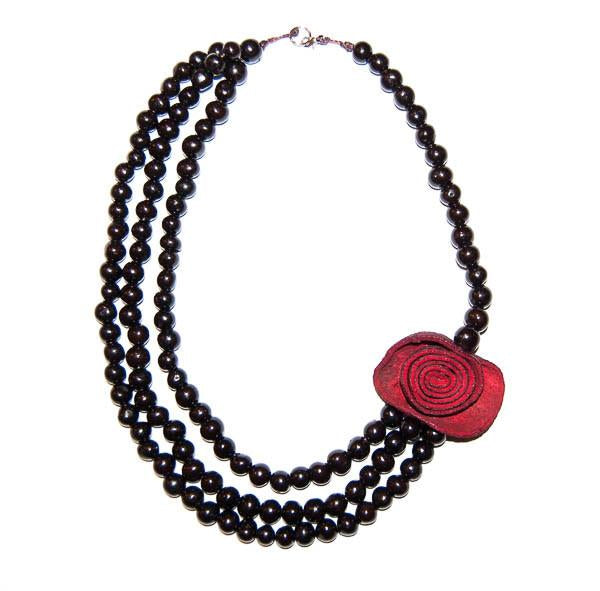 Paipa Acai Berry Necklace Black/Red