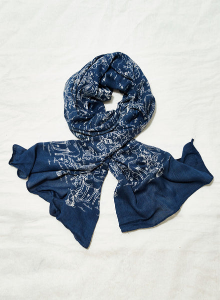 Claudette Bambo Scarf Navy