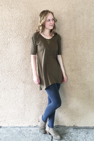 Madeline dropped shoulder Tunic