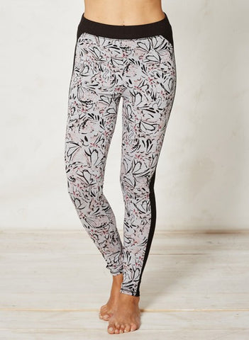 Papillon Active Leggings Light Grey Butterfly Print