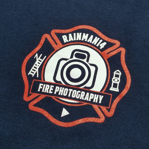 Rainman14 Fire Photography Tee - Navy
