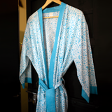 Galee – गली Cotton Dressing Gown / Robe in Island Blue
