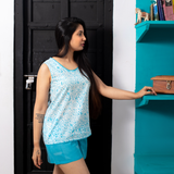 Galee – गली Short Pyjama Set in Island Blue