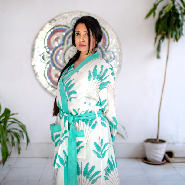Kela – केला Palm Cotton Dressing Gown / Robe