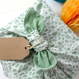 Galee – गली Reusable No Waste Fabric Gift Wrap 52cm x 52cm Sage Green