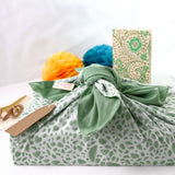 Galee – गली Reusable No Waste Fabric Gift Wrap 74cm x 74cm Sage Green