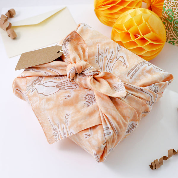 Registaan - रेगिस्तान Reusable No Waste Fabric Gift Wrap 52cm x 52cm
