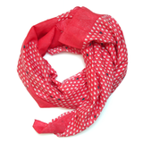 Monsoon - मानसून Scarf in coral pink and indigo