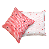 Monsoon - मानसून Set of 2 Cushion Covers in coral pink and indigo