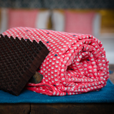 Monsoon - मानसून Throw / Blanket in coral pink and indigo