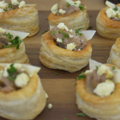 Easy Christmas Canapes: Pork in Cider Vol-au-vents