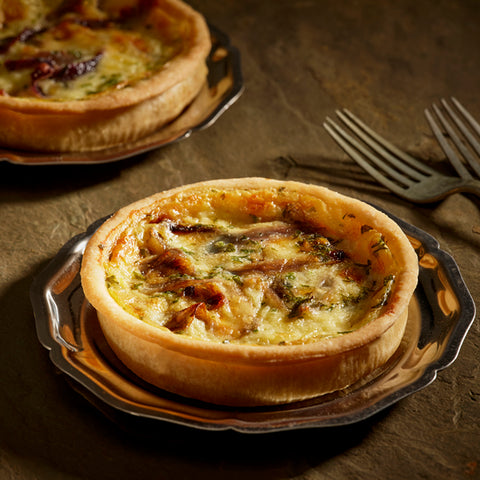 Roasted Red Onion & Gruyere Tart