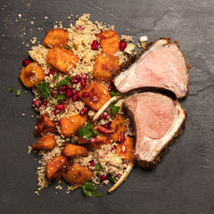 jewelled couscous with roast rack of lamb