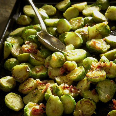 Brussels Sprouts with Maple & Bacon Butter