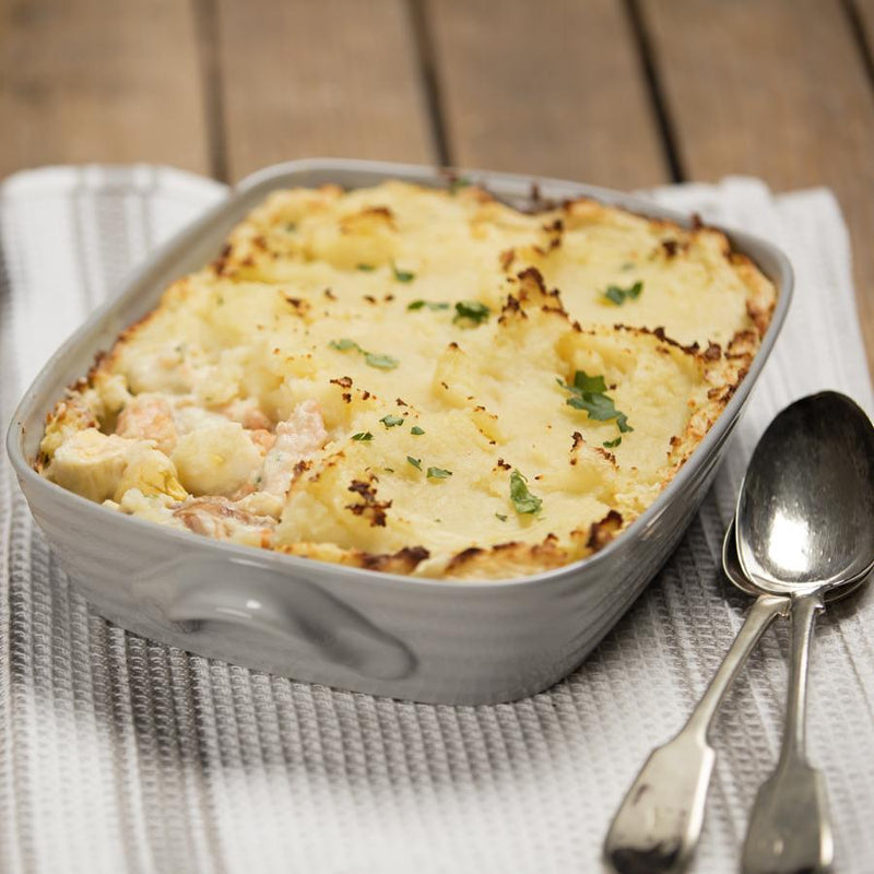 Gourmet frozen ready meals delivered direct. Fish Pie from Thyme.