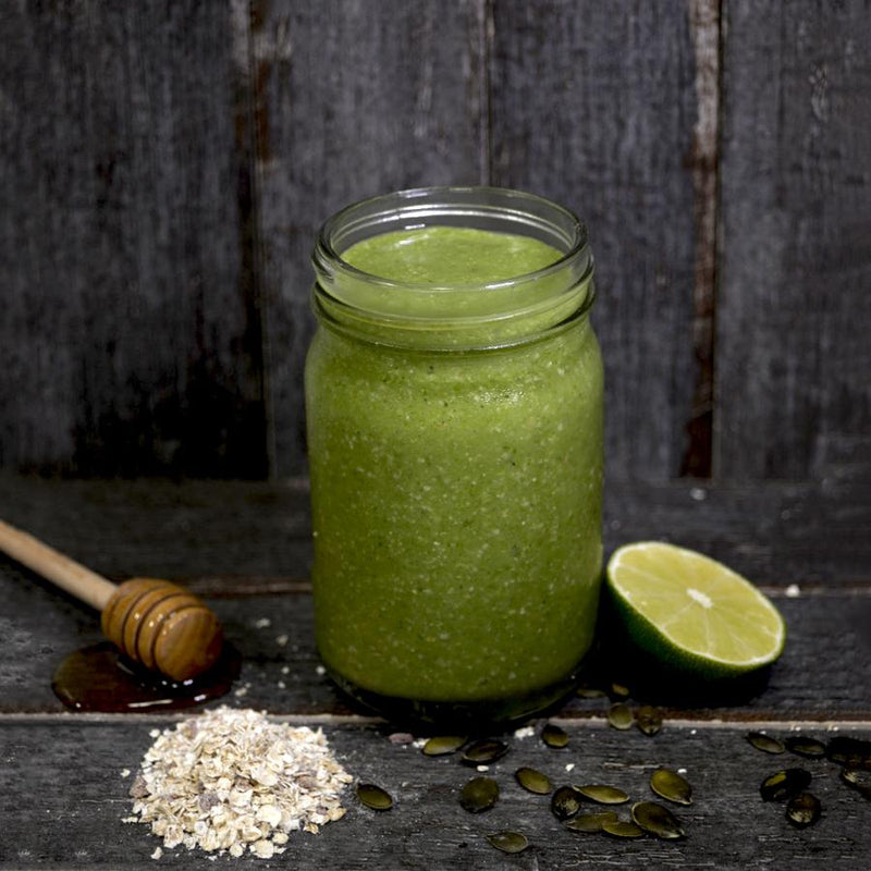 Vegetable based green smoothie box. Blender ready frozen smoothies