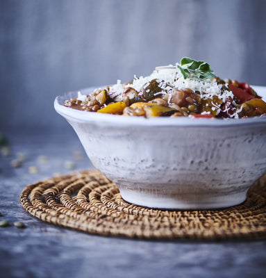 Lentil and Grilled Vegetable Ragu (V+)