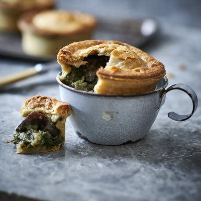 Mushroom and Spinach Pie with White Truffle Oil
