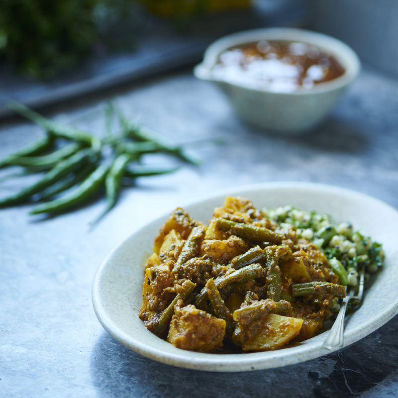 Green Bean & Potato Curry (V+)