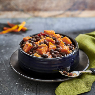 Black Bean and Sweet Potato Chilli (V+)