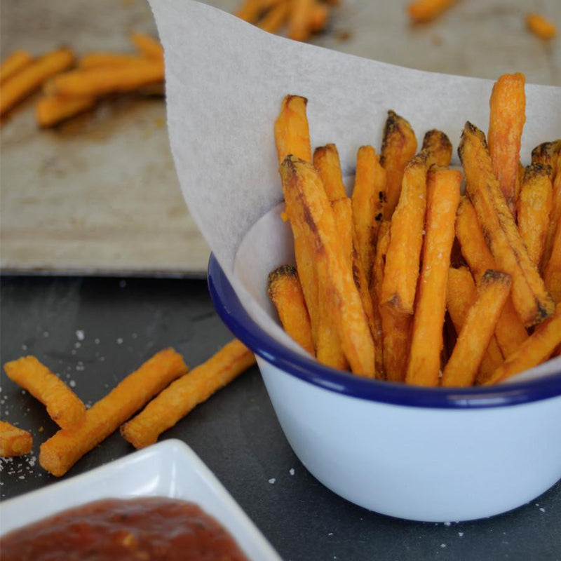 Frozen food at its best. Oven Baked Sweet Potato Fries from Strong Roots