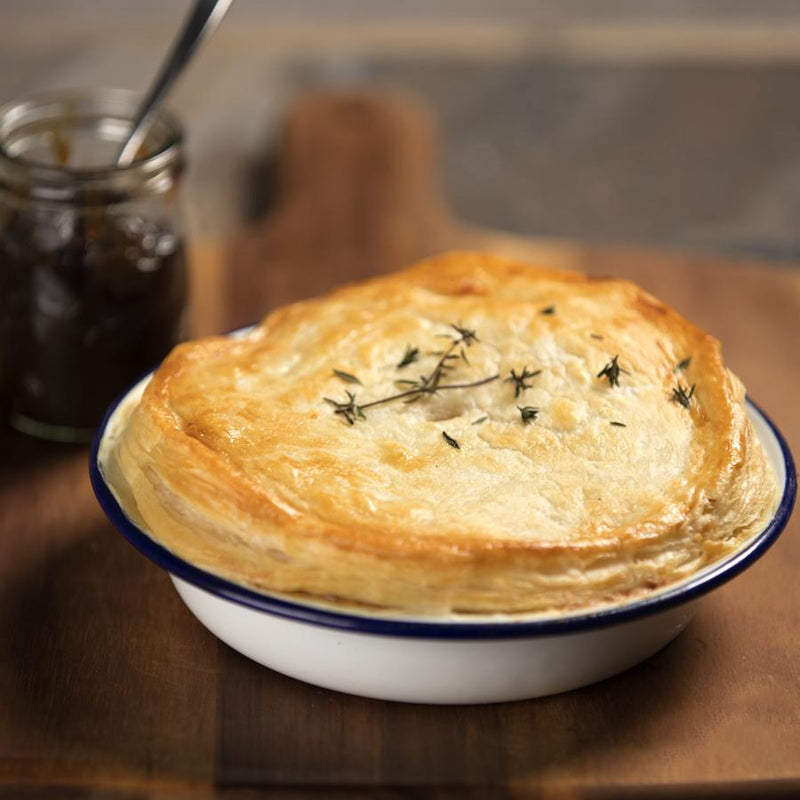 Gourmet frozen ready meals delivered direct. Potato, Leek & Cheese Pie from Thyme.