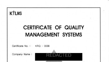 Hydraulics - ISO 9001 Certificate