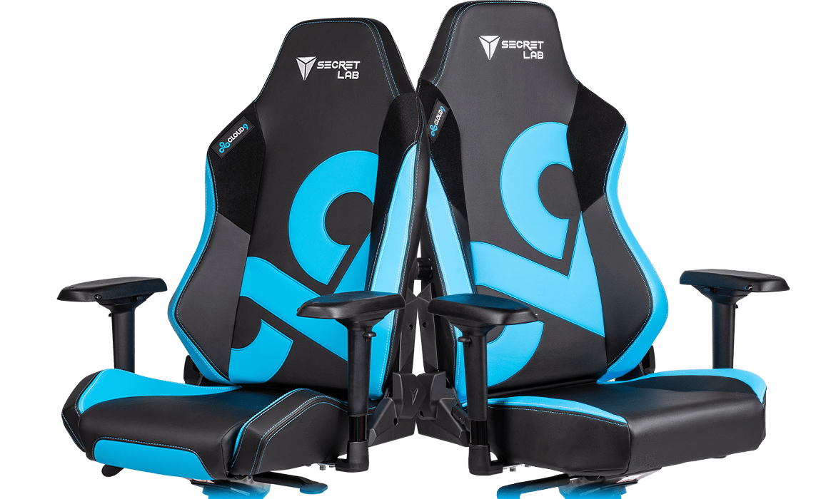 Secretlab x Cloud9 - OMEGA and TITAN Special Edition Chairs