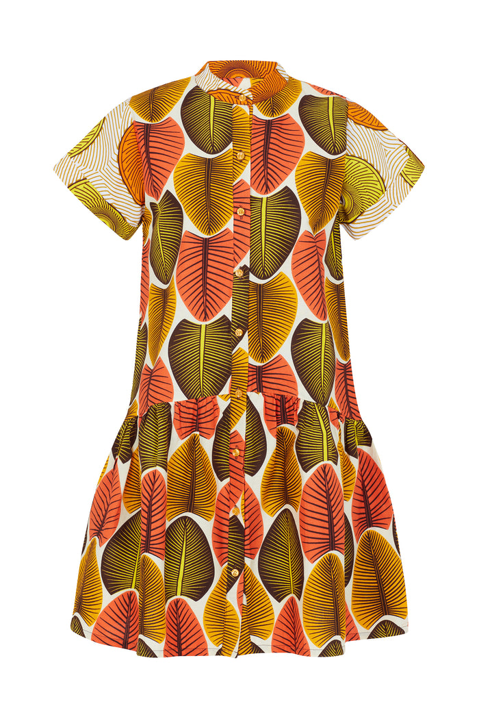 Mandarin High Low Dress
